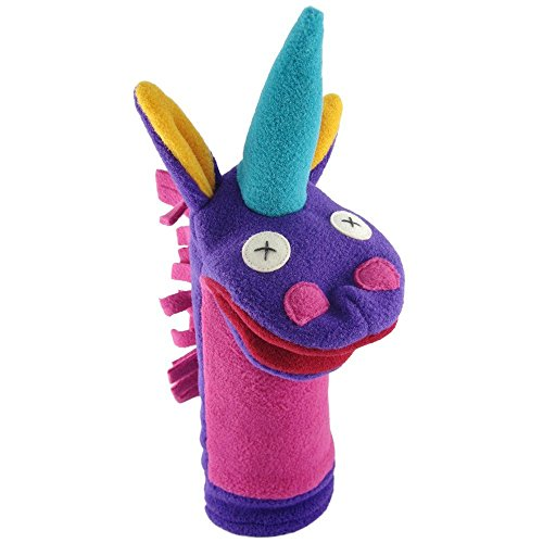 Cate and Levi Handmade Softy Magical Unicorn Hand Puppet (100% USA Polar Fleece), 12