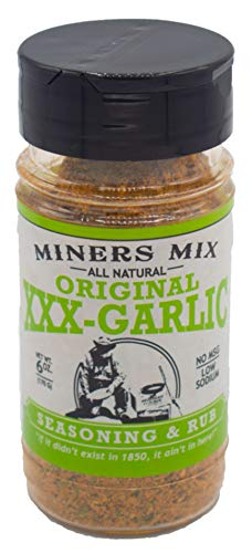 Miners Mix XXX Garlic All Natural Low Salt No MSG (Maple Smokehouse Seasoning)