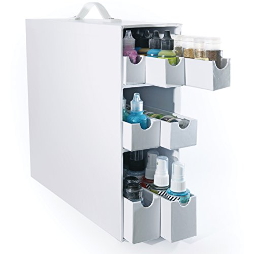 Totally-Tiffany Stash and Store Sparkle and Sprinkle Case, White by Totally-Tiffany