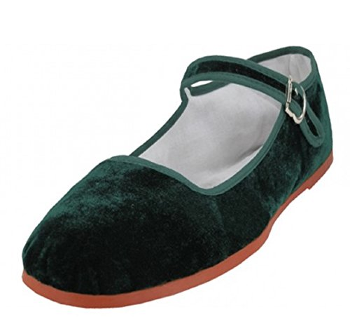 Shoes8teen Shoes 18 Womens Cotton China Doll Mary Jane Shoes Ballerina Ballet Flats Shoes