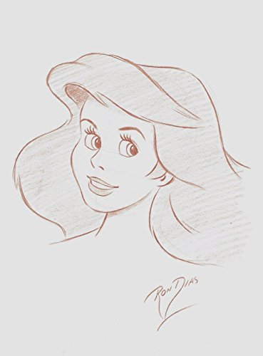 RON DIAS HAND DRAWING SIGNED AUTHENTIC SKETCH OF ARIEL LITTLE MERMAID DISNEY from Unknown