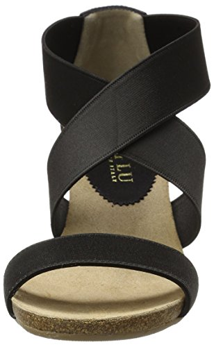Platform Women's Natural Sandal Lu Anyi Black Stretch Cristina Cord wFqt67