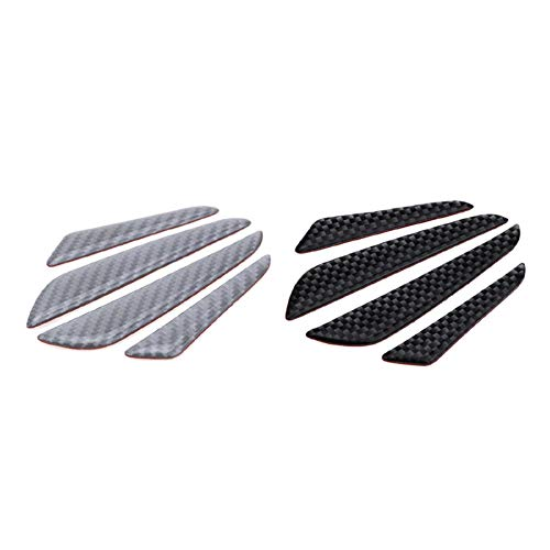 Tira protectora de fibra de carbono universal para puerta de coche Tira protectora rascable Accesorios esenciales-negro