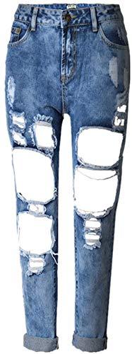 Normal Alta Pantalón Mujeres Las Denim Pantimedias Mezclilla De Casuales Jane Stretch Vaqueros Color1 Ocasional Cher Agujeros Cintura Pantalones x8q1AZ16