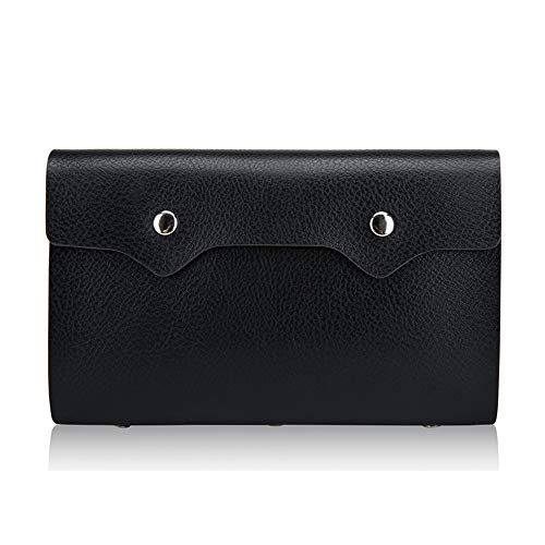 Anna Gift's 108 Pocket Business Card Holder,PU Leather RFID Blocking Credit Card Wallets,Credit Card Holder(Black)