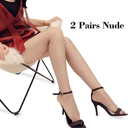 (Women's Tights,Ladies Tights,Women Fashion Black Pantyhose Lady Sexy Silk Stockings Leggings with Control Top (Nude,Nude, Medium) )