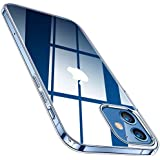 TORRAS Crystal Clear Designed for iPhone 12 Mini Case, [10X Anti-Yellowing] Slim Yet Shockproof Soft Silicone Sturdy Thin Phone Case Compatible with iPhone 12 Mini 5.4 inch 2020, Crystal Clear