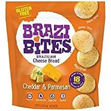 Brazi Bites Brazilian Cheese Bread Gluten Free Cheddar Parmesan, 11.5 Ounce (Pack of 12)