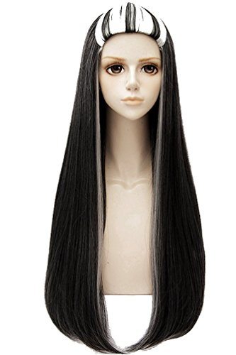 Coslive Monster High Cosplay Frankie Stein Wig Hair Costume Accessories Adult