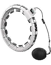 ExH Hula Hoops Smart Fitness Aerobie voor binnen voor hoelahoep-banden, verbeterde vorm, automatische rotatiebanden, afneembaar
