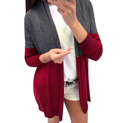 LisYOU Womens Kimono Cardigans Solid Blouse Irregular Wrap