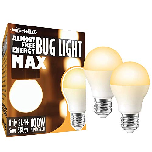 (MiracleLED 602005 Almost Free Energy 12W (2-Pack) AFE Bug Light MAX Amber Glow)