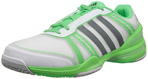 adidas Performance Herren CC Rally Comp Tennisschuh Weiß / Eisgrau / Flash Green