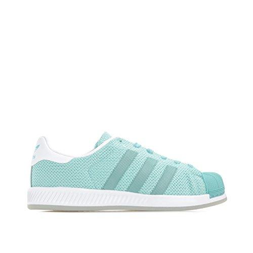 Adidas Originals Vrouwen Originelen Superster Bounce Trainers Gemakkelijk Us9.5 Groen