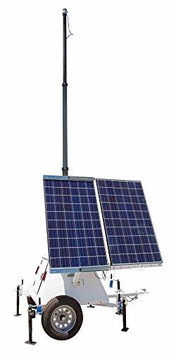 600 Watt Solar Power Generator with Light Tower Mast