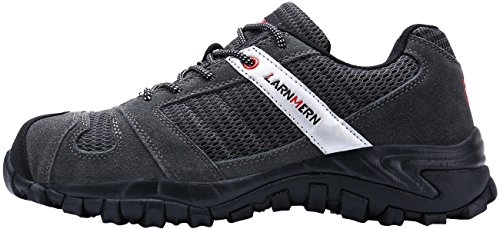 Larnmern Scarpe Da Lavoro Per Uomo, Lm-18 Scarpe Da Uomo In Acciaio Con Puntale Traspirante, Calzature Confortevoli E Antiscivolo