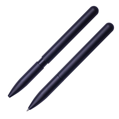 KOGOGO Aluminum Alloy Rollerball Pen Black Fine Point Gel Ink Minimalist Design with Gift - Returns Free Gap
