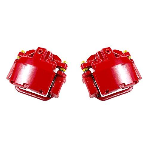 CK01174 [ 2 ] REAR Performance Grade Red Powder Coated Semi-Loaded Caliper Assembly Pair Set