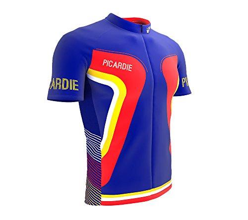 ScudoPro Picardie France Short Sleeve Full Zipper Cycling Bike Jersey for  Men Size XL 3e6d83584