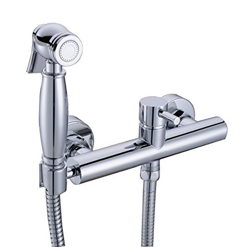 HANEBATH Toilet Bidet Sprayer Set with Hot and Cold Mixing Valve -Strong Water ,Chrome
