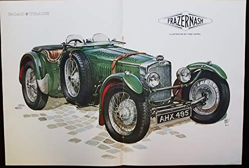 - Magazine Article and Illustration, 1932 Frazer-Nash TT Replica, for 1960 Road & Track Magazine, Artwork by Toby Nippel, Article by Mark Gibbons, Photographs by Robin Williams
