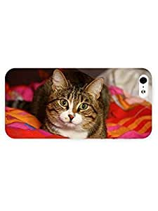 3d Full Wrap Case For Iphone 6 Plus 5.5 Inch Cover Animal Cat Staring84