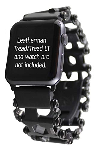 BestTechTool watch adapter compatible with LEATHERMAN TREAD LT - BTT adapter (Watch lug width=22mm, Black, TREAD LT)