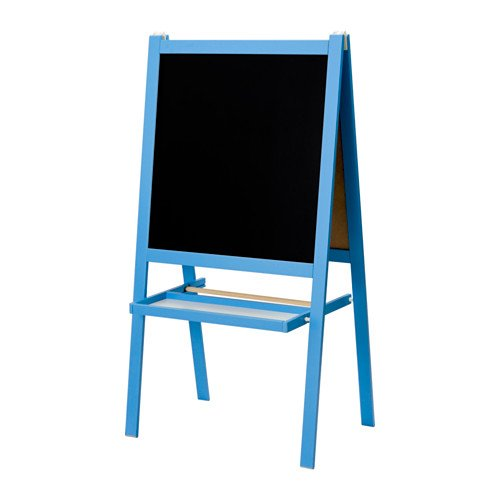 IKEA Azul infantil pizarra y pizarra, dos cara caballete + ...