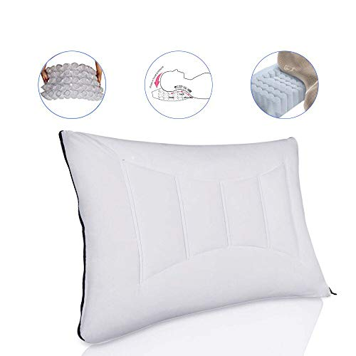 SPRING BED PILLOWS ——Soft Comfortable Bed Pillow For Sleeping and Side Sleeper with 55 Separate Pocket Springs,100% Cotton Newest, Breathable, Washable&Removable Pillows,by Lavisun (Queen size )