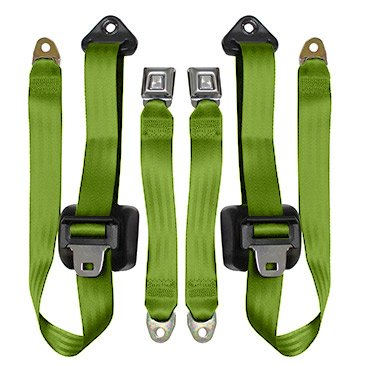 Jeep Wrangler Front Seat Belts, Lime Green