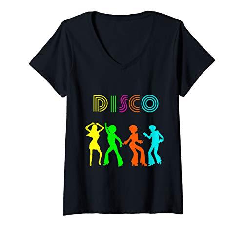 Womens Disco party Retro vintage 70's dance style