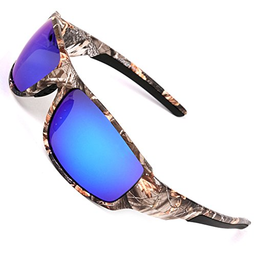 mouflage Sunglasses for Men's Fishing Hunting Boating Sun Glasses Blue (Camo Hunting Clothes)