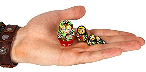 Smallest Matryoshka - Russian Mini Stacking Dolls – Handmade Nesting Dolls - Just 1⅕ inches Tall