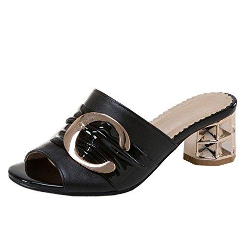 Donne Black Heels Melady Mode Mules qaf7O