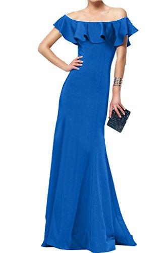 Satin Promkleid Lang Ivydressing Partykleid Hochwertig Damen Blau Etui U Abendkleid Linie Festkleid Ausschnitt ww6Yxzq4
