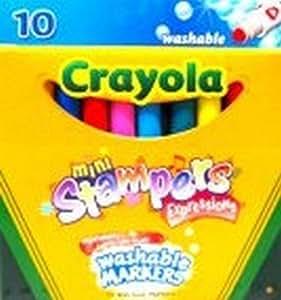 Crayola Mini-marcadores expresiones almohadillas - tinta lavable - 10/Paquete (6 pack)