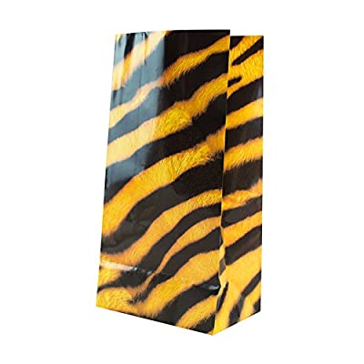 Super Z Outlet Zoo Animal Print Design Pattern Paper Bags for Candy Party Favors, Snacks, Decoration, Children Arts & Crafts, Lunch Picnics, Event Supplies (36 Bags): Toys & Games