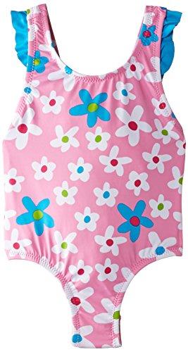Hatley Big Girls' Summer Garden Bathing Suit, Pink, 3 (Hatley Summer Garden)