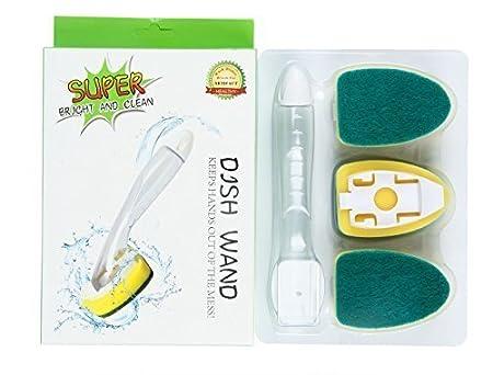 Dream Man Soap Dispenser Scrubber Cleaner Dish Wand Brush Scrub Refill Washing Kitchen