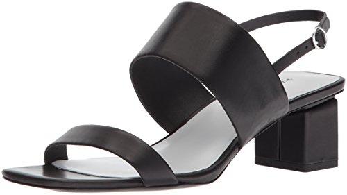 (Via Spiga Women's Forte Block Heel Sandal, Black Leather, 10 M US)