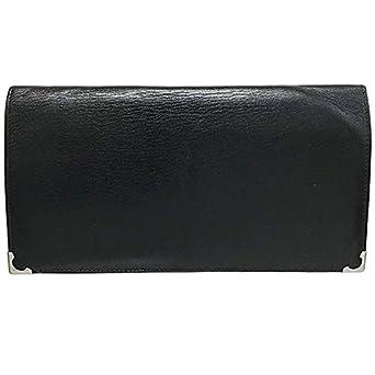 e2e9b22b099f Cartier(カルティエ) 長財布 カボション ロングウォレット レザー 革 ブラック 黒 Cartier 二つ折り