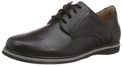 Ganter Giacomo, Weite G - Zapatos de cordones derby Hombre Negro - Schwarz (schwarz 0100)