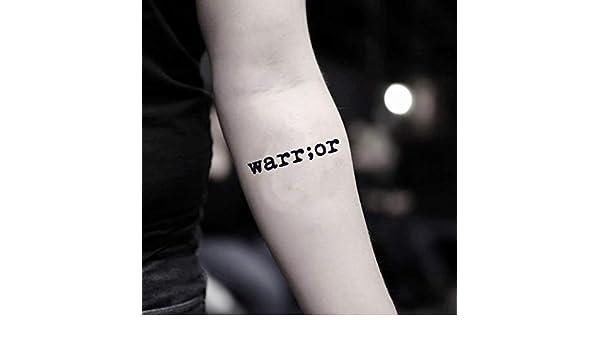 Tatuaje Temporal de Palabra guerrera (2 Piezas) - www.ohmytat.com ...