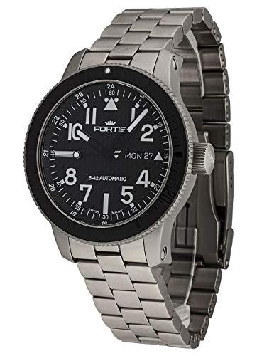 Reloj de Pulsera Fortis B-42 de Titanio y Carbono, analógico, con Fecha, automático, 647.27.71 m: Amazon.es: Relojes