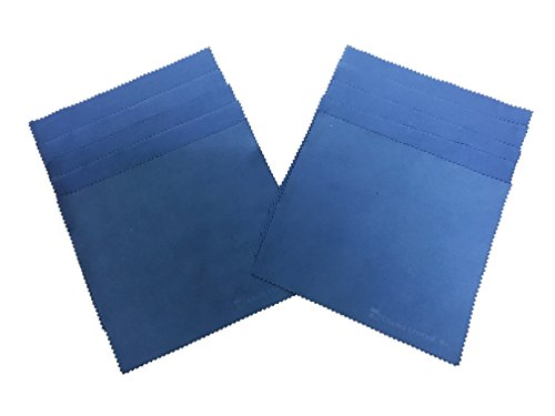 (Charles Leonard Multi-Purpose Cloth Eraser, Cleaning Cloth for Whiteboards, Glass and Electronic Screens, 7 x 7.75 Inches, Blue, 10-Pack (74570))