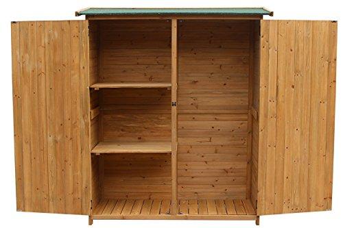 Amazon.com : Merax Wooden Outdoor Garden Shed With Fir Wood Medium Storage  Shed Lockable Storage Unit With Double Doors, Natural Color : Garden U0026  Outdoor
