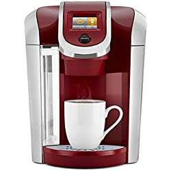 Keurig K475 Single Serve Programmable K- Cup Pod Coffee Maker with 12 oz brew size and temperature control, Vintage Red