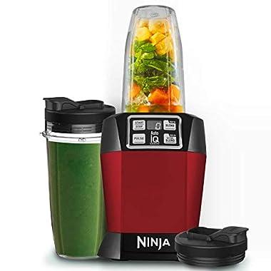 Nutri Ninja Auto-IQ Blender, 1000W, 1 Jar (Red) 7