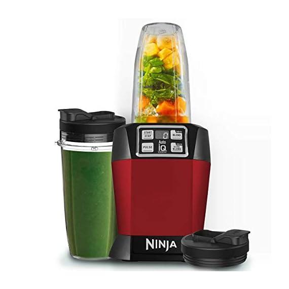Nutri Ninja Auto-IQ Blender, 1000W, 1 Jar (Red) 2