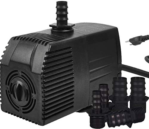 Simple Deluxe 400 GPH UL Listed Submersible Pump with 15′ Cord, Water Pump for Fish Tank, Hydroponics, Aquaponics…